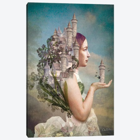 My Home Is My Castle Canvas Print #CWS52} by Catrin Welz-Stein Canvas Art Print