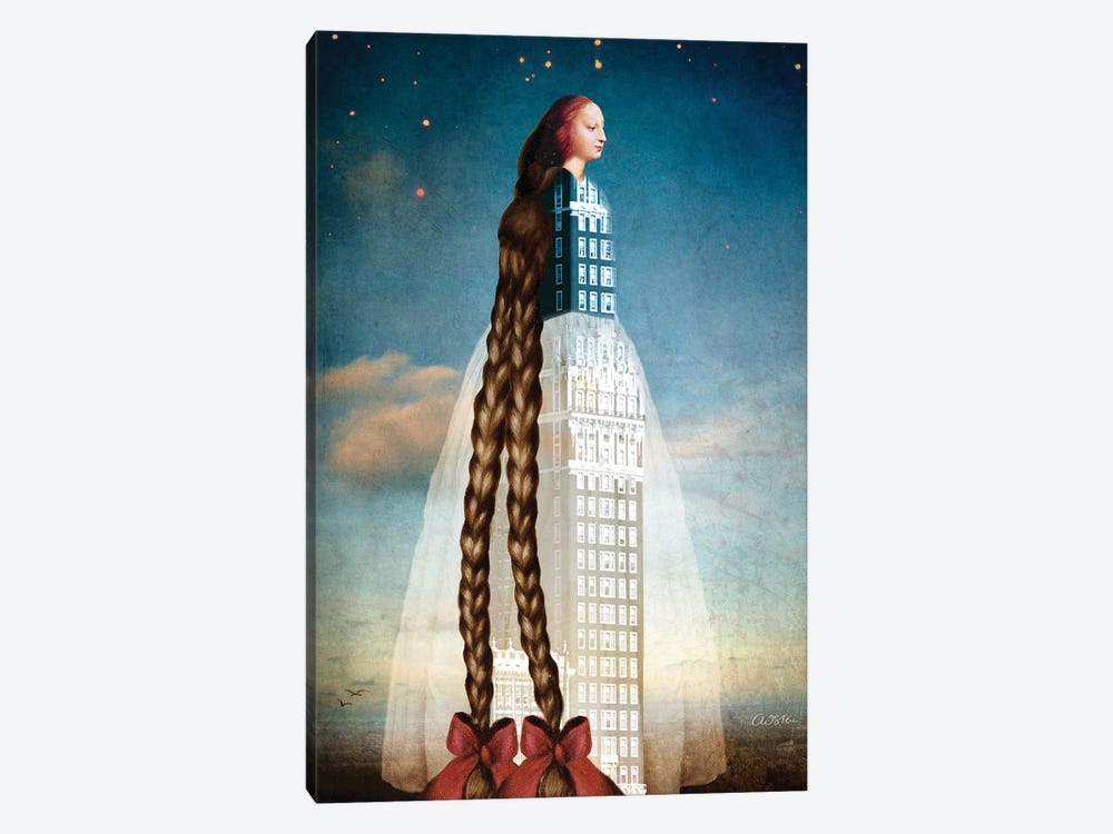 Rapunzel by Catrin Welz-Stein 1-piece Canvas Wall Art