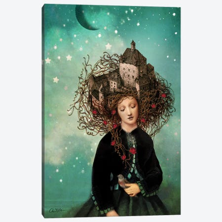 Sleeping Beauty Canvas Print #CWS56} by Catrin Welz-Stein Canvas Artwork