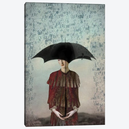 Speechless Canvas Print #CWS57} by Catrin Welz-Stein Canvas Artwork