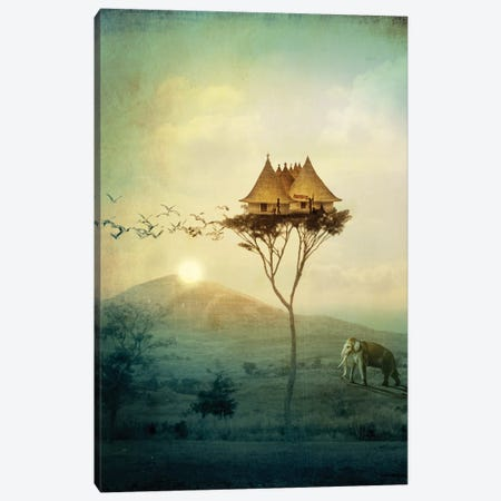 Sunset Canvas Print #CWS59} by Catrin Welz-Stein Art Print