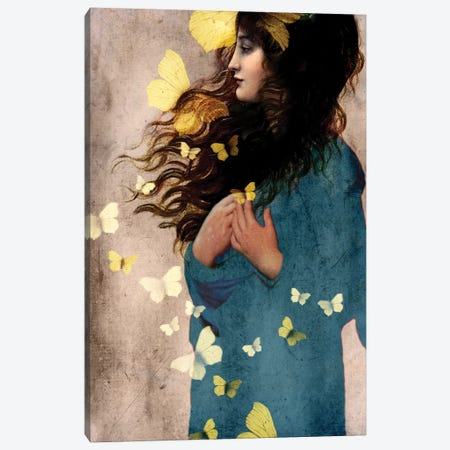 Bye Bye Butterfly Canvas Print #CWS5} by Catrin Welz-Stein Canvas Art Print