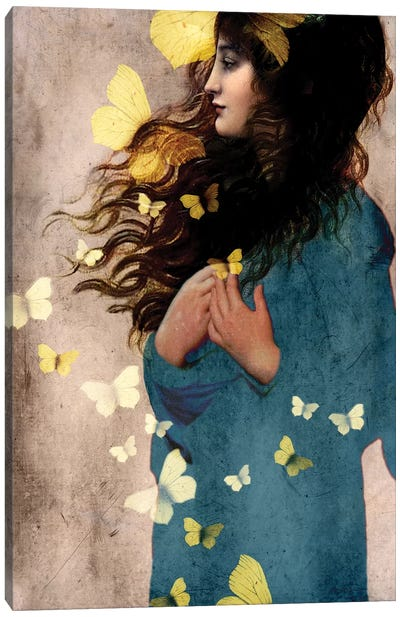 Bye Bye Butterfly Canvas Art Print