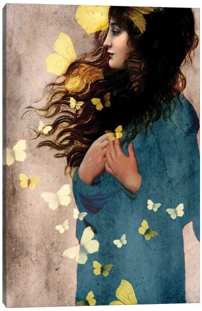 Bye Bye Butterfly Canvas Art Print