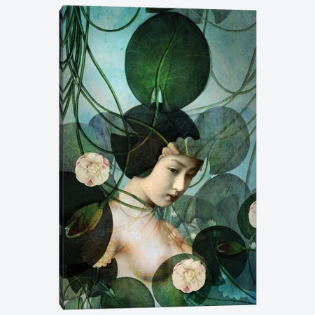 Tangled Canvas Print #CWS60} by Catrin Welz-Stein Canvas Wall Art