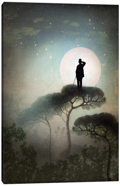 The Man In The Moon Canvas Art Print
