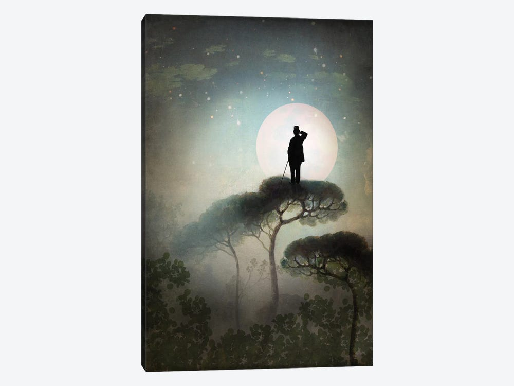 The Man In The Moon by Catrin Welz-Stein 1-piece Canvas Print