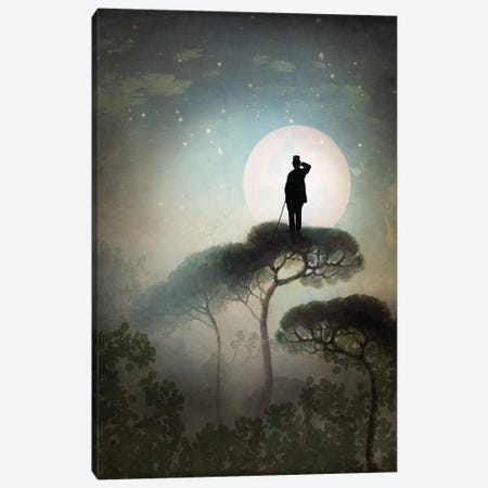 The Man In The Moon 3-Piece Canvas #CWS61} by Catrin Welz-Stein Canvas Art