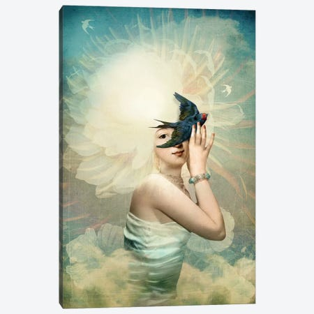 The Sun Canvas Print #CWS63} by Catrin Welz-Stein Canvas Artwork
