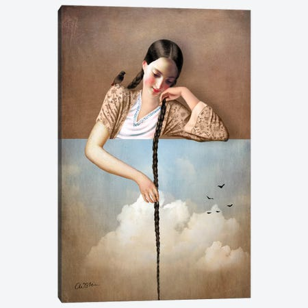 Touch The Sky Canvas Print #CWS65} by Catrin Welz-Stein Canvas Print