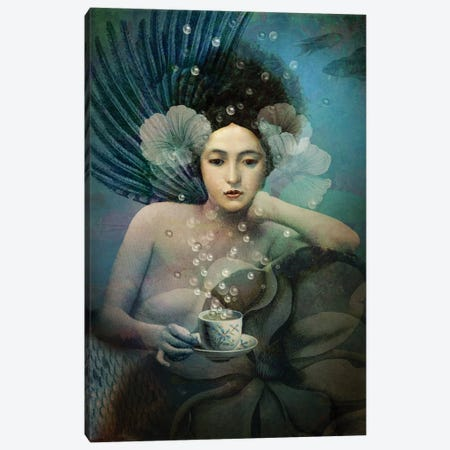 Under The Sea Canvas Print #CWS66} by Catrin Welz-Stein Canvas Art Print