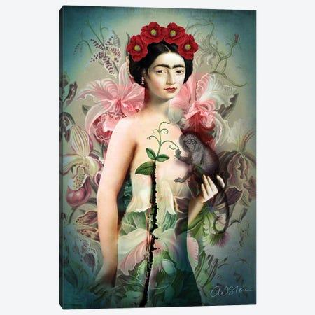 Frida Canvas Print #CWS75} by Catrin Welz-Stein Canvas Wall Art