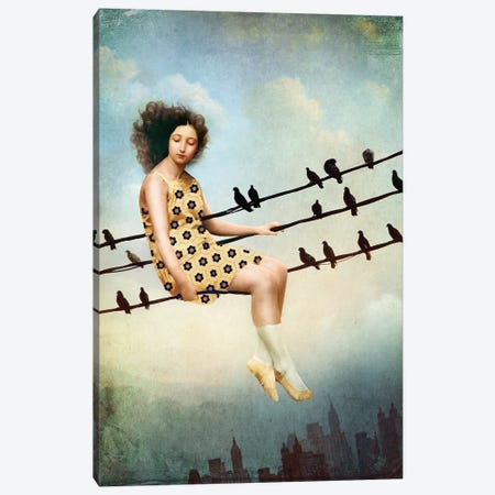 Hang In There Canvas Print #CWS76} by Catrin Welz-Stein Canvas Art