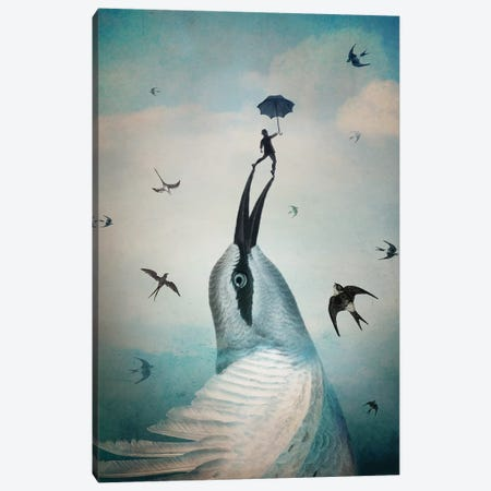 Jump Canvas Print #CWS77} by Catrin Welz-Stein Canvas Art