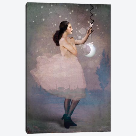 Magic Ribbon Canvas Print #CWS79} by Catrin Welz-Stein Canvas Art Print