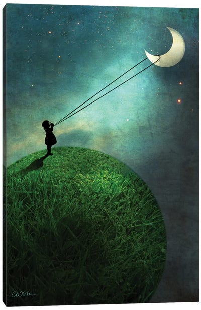 Chasing The Moon Canvas Art Print