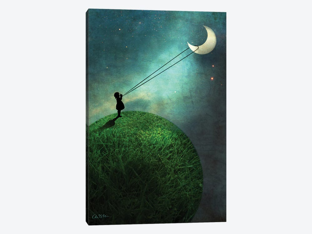 Chasing The Moon by Catrin Welz-Stein 1-piece Canvas Print