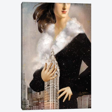 Manhattan Canvas Print #CWS80} by Catrin Welz-Stein Canvas Art