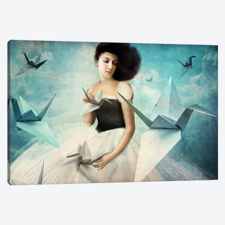 My First Origami Crane Canvas Print #CWS81} by Catrin Welz-Stein Canvas Art