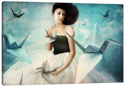 My First Origami Crane Canvas Art Print