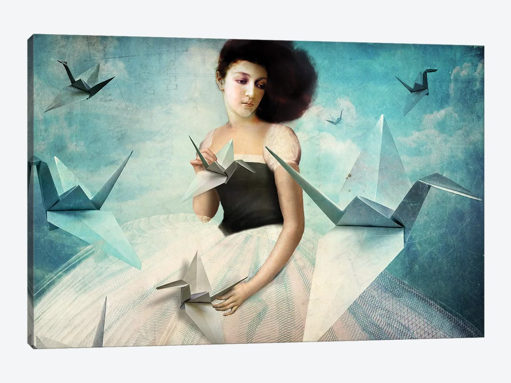 My First Origami Crane by Catrin Welz-Stein 1-piece Art Print