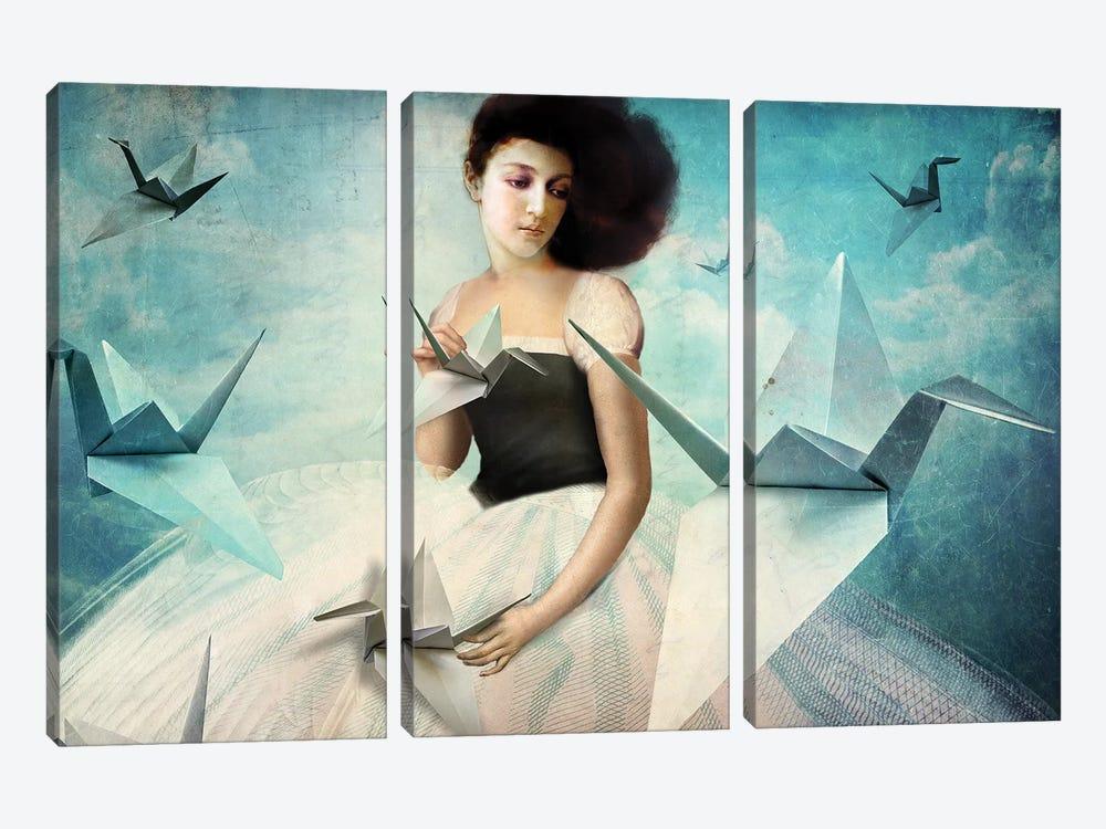 My First Origami Crane by Catrin Welz-Stein 3-piece Canvas Print