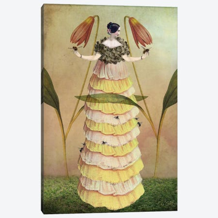 Queen B 3-Piece Canvas #CWS83} by Catrin Welz-Stein Canvas Artwork