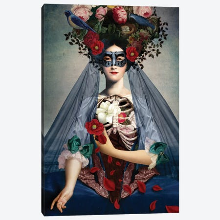 Dia de Los Muertos Canvas Print #CWS8} by Catrin Welz-Stein Canvas Art