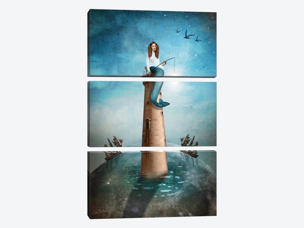 The Eremit by Catrin Welz-Stein 3-piece Canvas Art Print