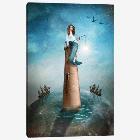 The Eremit Canvas Print #CWS90} by Catrin Welz-Stein Canvas Print