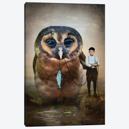 Buddies Canvas Print #CWS94} by Catrin Welz-Stein Canvas Wall Art