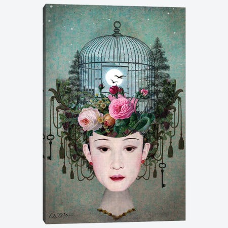 Moonlight Garden Canvas Print #CWS98} by Catrin Welz-Stein Canvas Print