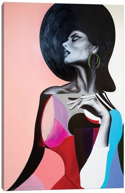 Woman With Green Earring Canvas Art Print