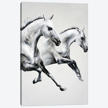 Horse Race 3-Piece Canvas #CWT5} by Chance Watt Canvas Artwork