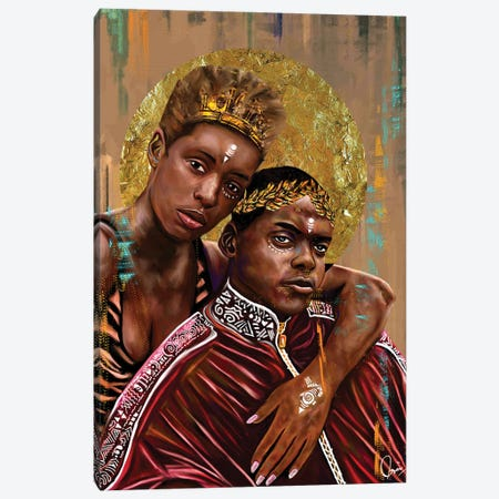 Queen And Slim Canvas Print #CXE11} by Crixtover Edwin Canvas Print