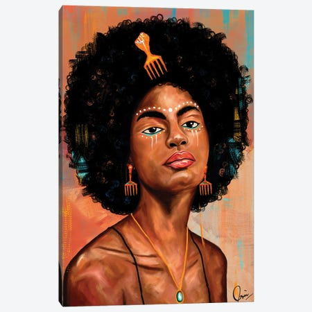 Afro Candy Canvas Print #CXE16} by Crixtover Edwin Canvas Art