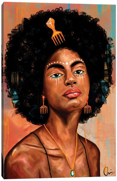 Afro Candy Canvas Art Print