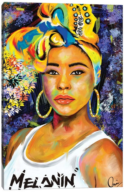 Wrapped In Melanin  Canvas Art Print