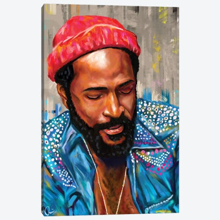 Marvin Gaye 3-Piece Canvas #CXE19} by Crixtover Edwin Canvas Print