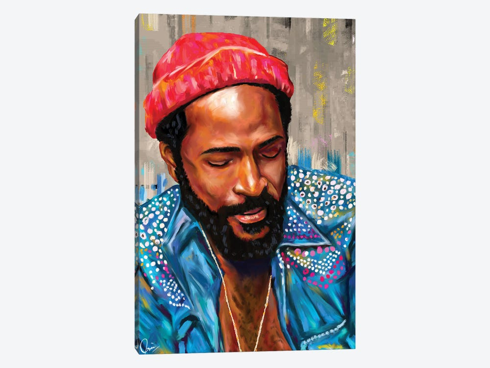 Marvin Gaye by Crixtover Edwin 1-piece Canvas Artwork