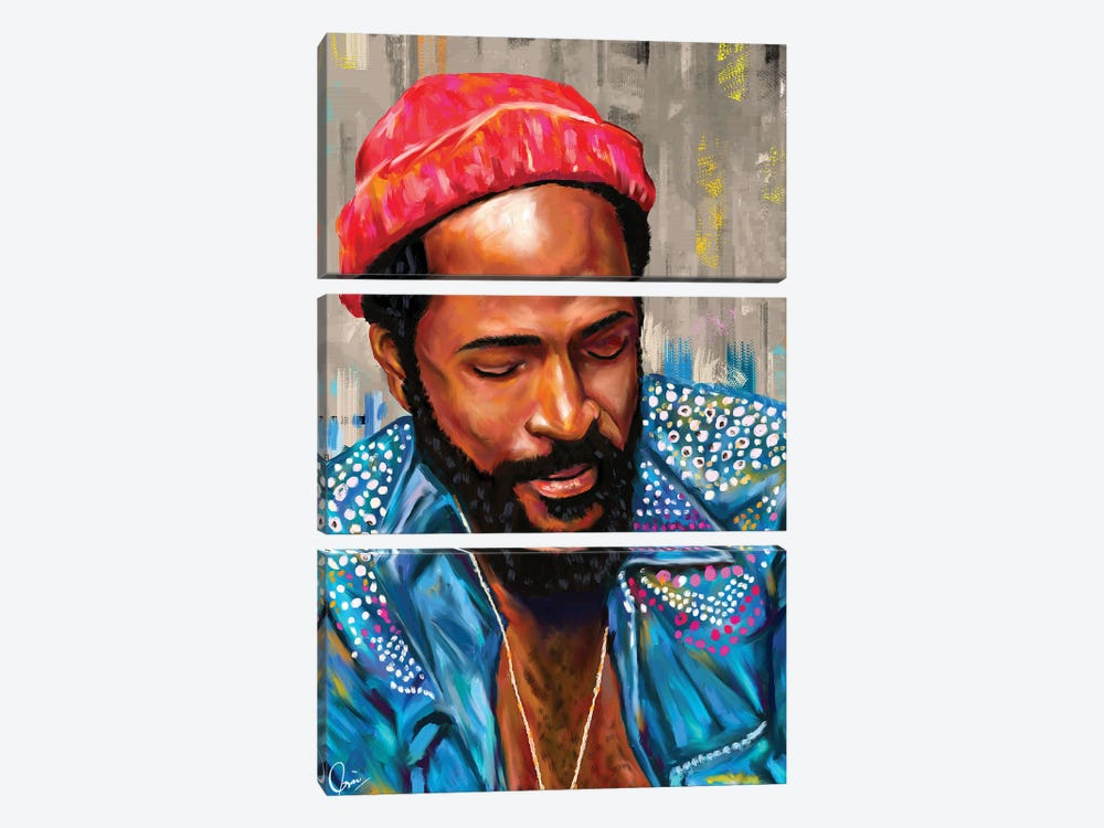 Marvin Gaye by Crixtover Edwin 3-piece Canvas Art