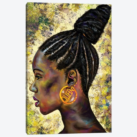 Wrapped In Cornrows 3-Piece Canvas #CXE1} by Crixtover Edwin Canvas Artwork