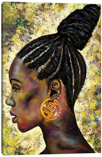 Wrapped In Cornrows Canvas Art Print