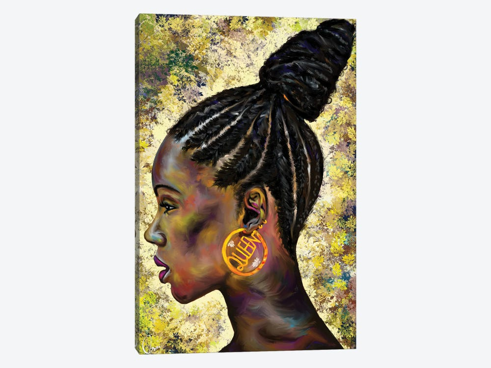 Wrapped In Cornrows by Crixtover Edwin 1-piece Canvas Print