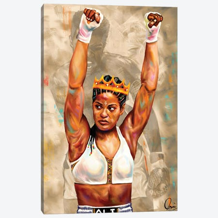Laila Ali Canvas Print #CXE21} by Crixtover Edwin Canvas Wall Art