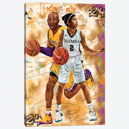 Kobe X Gigi Canvas Print #CXE22} by Crixtover Edwin Canvas Artwork