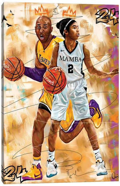 Kobe X Gigi Canvas Art Print