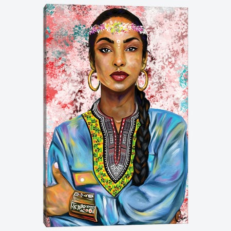 Sade Adu Canvas Print #CXE23} by Crixtover Edwin Canvas Art
