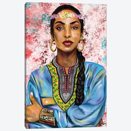 Sade Adu Canvas Print #CXE23} by Crixtover Edwin Canvas Art