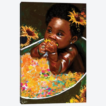 "Brown Skin Girl ""Hope"" Canvas Print #CXE24} by Crixtover Edwin Canvas Art Print"